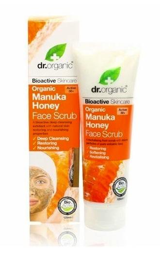 Vier redenen om te scrubben dr organic manuka honey face scrub