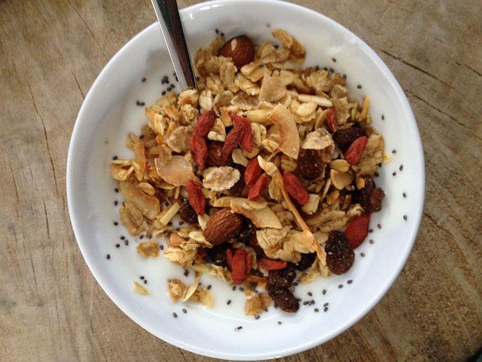 Carmens eetdagboek ontbijt met muesli