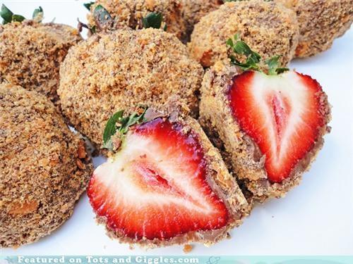 Food friday aardbeien in butterfinger crunch
