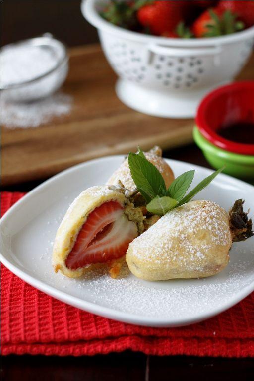 Food friday aardbeien in een jasje