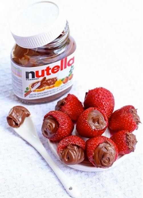 Food friday aardbeien met nutella