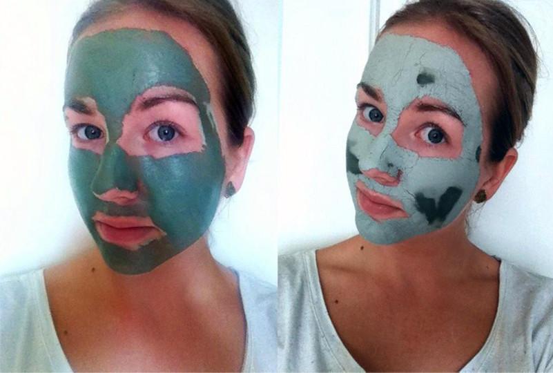 Test groene klei masker