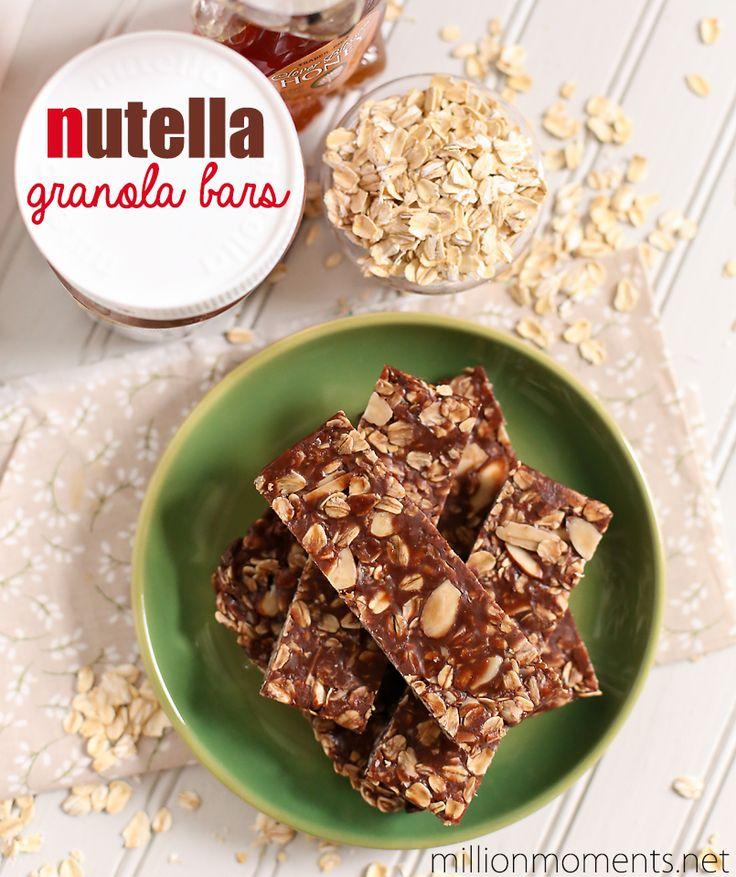 Food Friday mueslireep met nutella