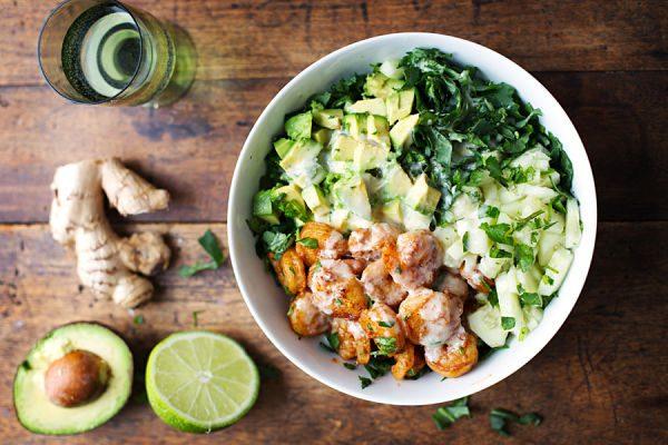 Het beste van Pinterest: Salade met garnalen en avocado | Feel Magazine