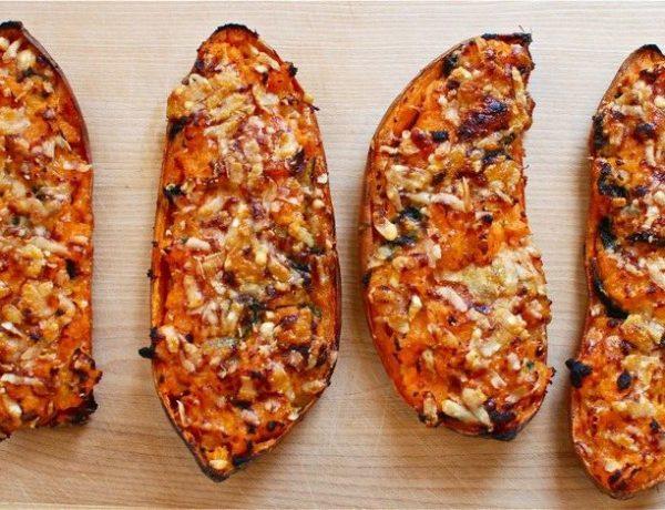 Recepten met zoete aardappel - gevuld